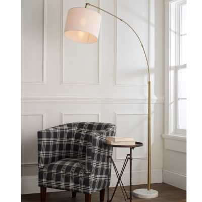 MODERN SHADE SINGLE LIGHT ARC FLOOR LAMP - Shades of Light