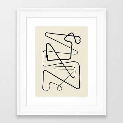 Movements Framed Art Print, Scoop White Frame - Society6