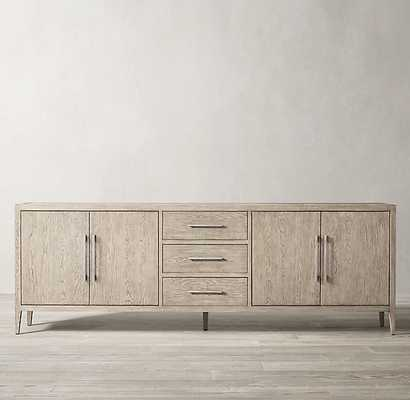 FRENCH CONTEMPORARY PANEL 4-DOOR SIDEBOARD WITH DRAWERS - RH