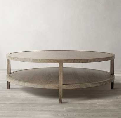 FRENCH CONTEMPORARY ROUND COFFEE TABLE - RH