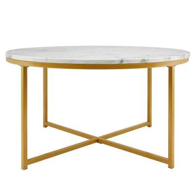 Spratt Cross Legs Coffee Table / Gold - Wayfair