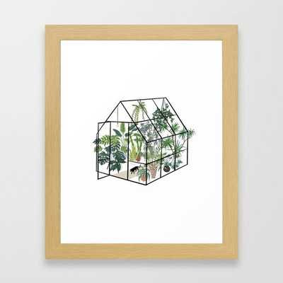 """greenhouse with plants Framed Art Print by Anyuka- conservation natural 10"""" X 12"""" - Society6"""