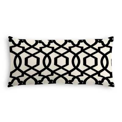 Lumbar Pillow - Sultan Pepper - Black - 12''x24'' with Poly fiber insert - Loom Decor