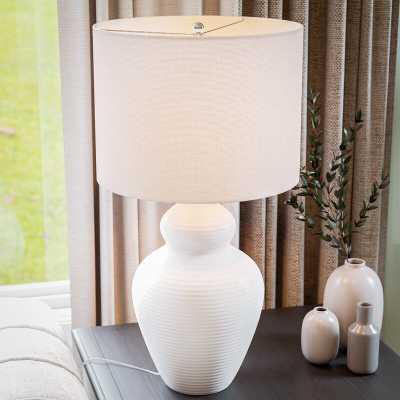 "Monticello 27.5"" White Table Lamp - Wayfair"