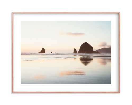 cannon beach no. 1 - 2418 - matte copper frame with white border - Minted