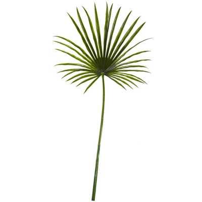 Faux Fan Palm Leaf, Set of 2 - Fiddle + Bloom