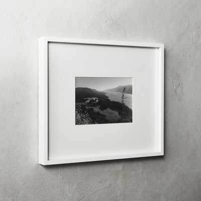 Gallery White Frame with White Mat 5x7 - CB2