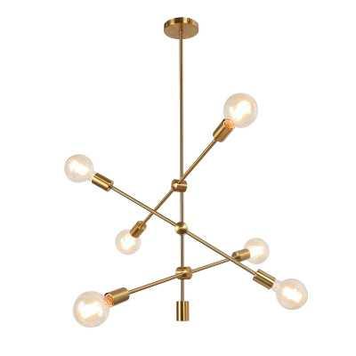Turk 6-Light Sputnik Modern Linear Chandelier - Wayfair