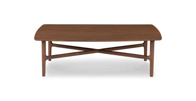 Brezza Matte Walnut Coffee Table - Article