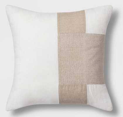 Colorblock Square Throw Pillow Neutral - Project 62™ - Target