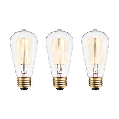 60 Watt A19 Incandescent, Dimmable  Light Bulb, Warm White (2700K) E26/Medium (Standard) Base - Wayfair