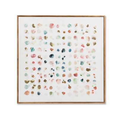 Framed Abstract Watercolor Wall Canvas 24 X 24 - Project 62™ - Target