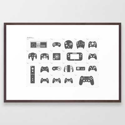 The Evolution of Video Game Controllers Framed Art Print - Society6