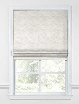 Black Out  Flat Roman Shade Sunbrella® Frequency - Parchment - Loom Decor