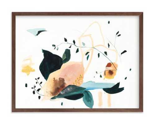 "lyrical framed art print - 24"" x 18"" walnut wood frame - Minted"