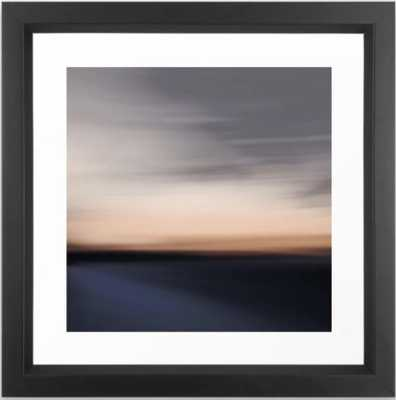 Dreamscape # 13 Framed Art Print, 12 x 12, Vector Black - Society6