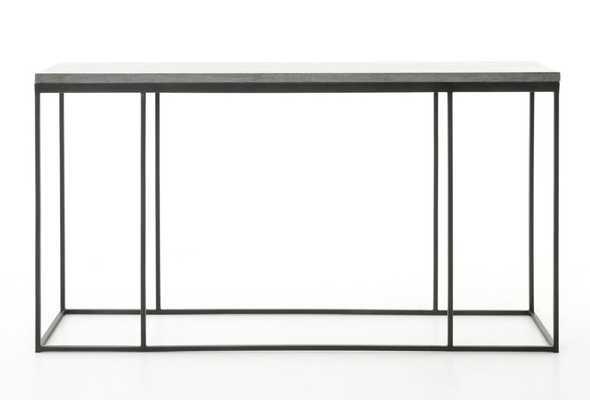 Harlow Console Table in Bluestone & Gunmetal - Burke Decor
