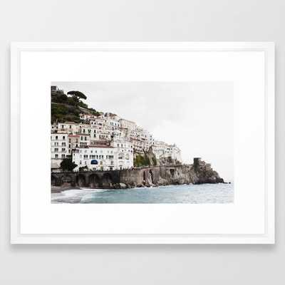 Amalfi Coast Framed Art Print by josephandjaime - Society6