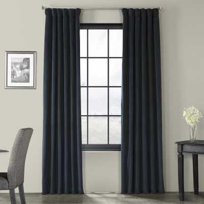 "Albert Velvet Solid Blackout Thermal Rod Pocket Single Curtain Panel 120"" - Wayfair"