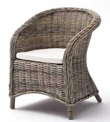 Leverett Arm Chair in Natural Gray (Set of 2) - Wayfair