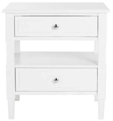 JENSON TWO DRAWER NIGHT STAND (White) - Arlo Home