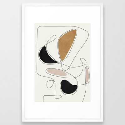Thin Flow III Framed Art Print - Society6