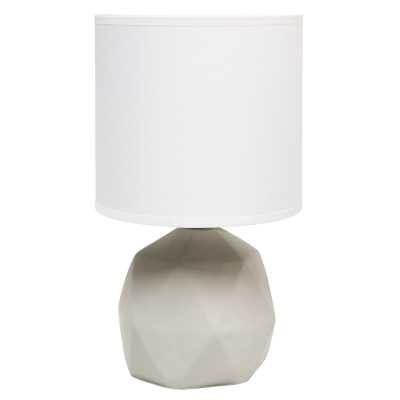 "Sweetser 10.6"" Gray Table Lamp - Wayfair"