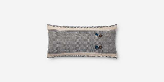 """P0712 INDIGO / NATURAL, 12"""" x 27"""" with Poly Insert - Loma Threads"""