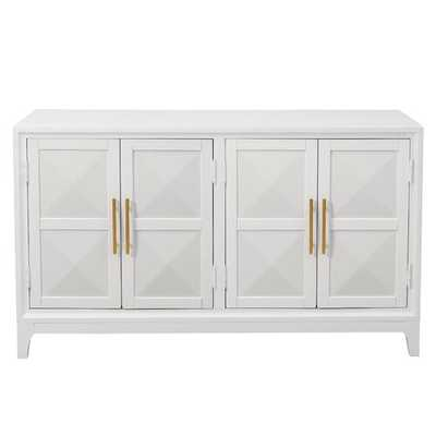 Aiello Four Door Geometric Front Sideboard - Wayfair