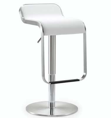 Mckenna White Lexi Steel Adjustable Barstool - Maren Home