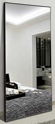 "H&A 65""x22"" Full Length Mirror Bedroom Floor Mirror Standing or Hanging (Black) - Amazon"