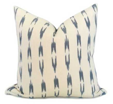 "Guatemalan Ikat Stripe Pillow Cover - 17""x17"" - Gray and Cream - Without insert - Willa Skye"