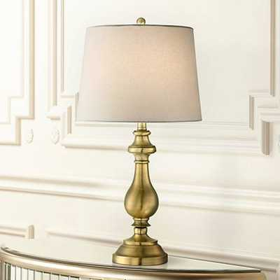 Brass Candlestick Table Lamp - Lamps Plus