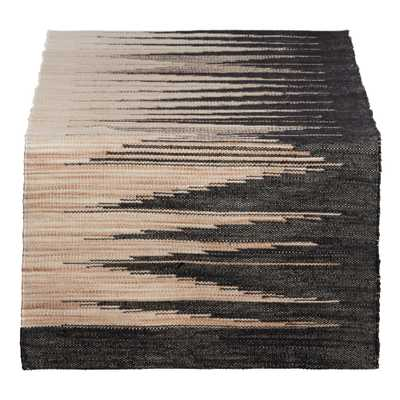 Woven Black And Natural Table Runner - World Market/Cost Plus