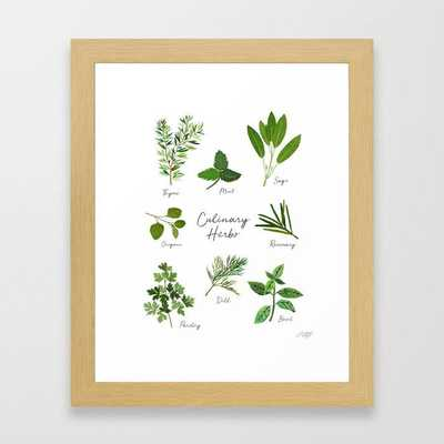 Culinary Herbs Framed Art Print - Society6