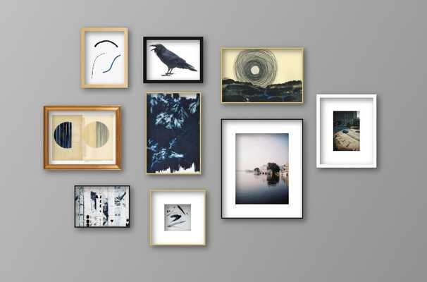 Moody Blues Gallery Wall - Frames Included - Artfully Walls