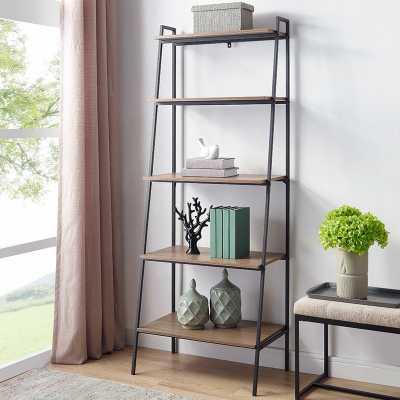 Calhoun Metal and Wood Ladder Bookcase - Wayfair