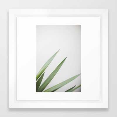 "Plant Framed Art Print - 12""x12"" Vector White - Society6"