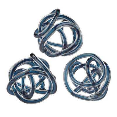 3 Piece Glass Knot Sculpture Set - Wayfair