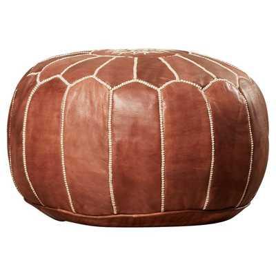 Carolos Leather Pouf - AllModern