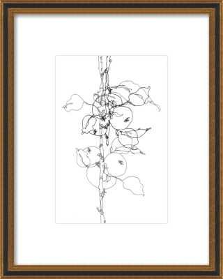"Apple Tree 1 by Ashleigh Ninos - 10"" x 14"" - Black Gold reverse wood - Artfully Walls"