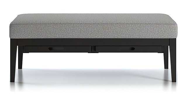 Nash Rectangular Ottoman with Tray - Crate and Barrel
