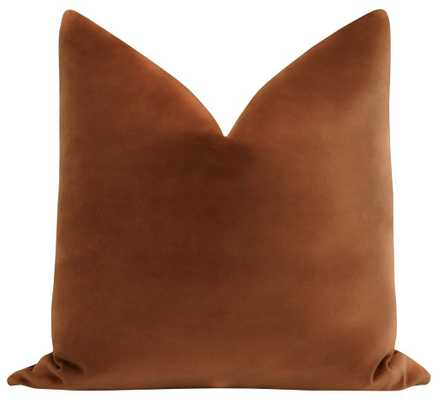 "Sonoma Velvet // Rust - 22"" - Pillow Cover - Little Design Company"