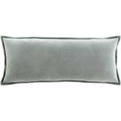 """Cotton Velvet Pillow - 12"""" x 30"""" - Poly Insert - Neva Home"""