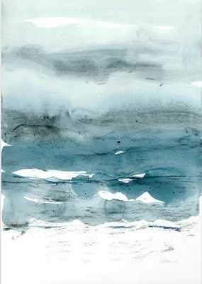 dissolving blues canvas print, large - Society6