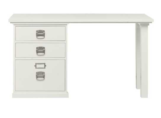 """Bedford 52"""" Writing Desk with Drawers - 3 Drawer - Pottery Barn"""