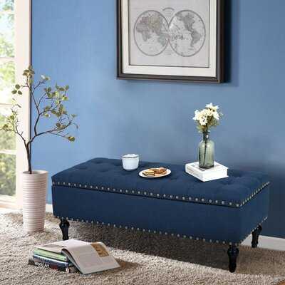 Upholstered Flip Top Storage Bench - Wayfair
