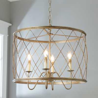 Trellis Cage Drum Chandelier - Shades of Light