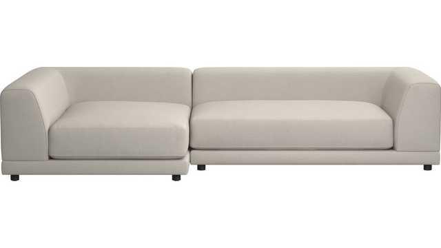 uno 2-piece sectional sofa - CB2