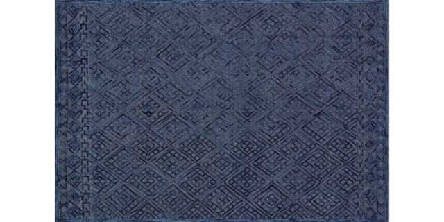 "GLENDALE Rug NAVY 7'-9"" x 9'-9"" - Loma Threads"